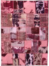 Handknuten persisk patchworkmatta ull/garn tabriz 169x235cm