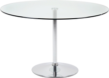 Becky cafebord - glasplade, stål stel, rundt (Ø:100)