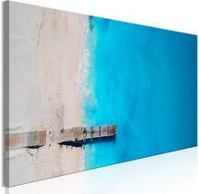 Tavla - Sea And Wooden Bridge (1 Part) Narrow Blue Size: 150x50