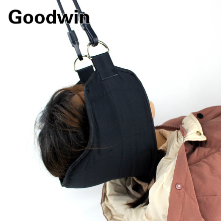 Hammock for Neck Pain Relief. Portable Cervical Traction and Relaxation Device