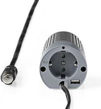 Nedis Strömväxelriktare, modifierad sinusvåg   24 V DC - 230 V AC   100 W   1x Schuko-uttag/1 USB-port