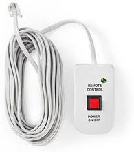 Fjärrkontroll för strömväxelriktare   för Nedis strömväxelriktare, modifierad sinusvåg   5.00 m kabel