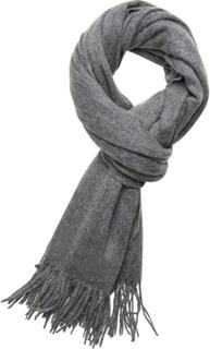 Les Deux Solid Wool Scarf Tørklæde Grå Les Deux