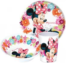 Disney Mimmi Pigg Matset Melaminservis Blommor 1f3ea3cb7f254
