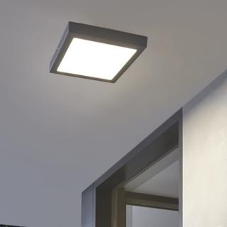 EGLO Utendørs LED vegg-/taklampe Argolis 22W antrasitt