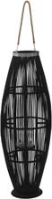 vidaXL Hängande ljuslykta bambu 95 cm svart
