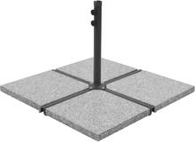 vidaXL Viktplattor för parasoll 4 st grå granit fyrkantig 100 kg