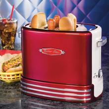 Retro Line Korvgrill / Korvrost Hot dog pop up toaster Röd-vit