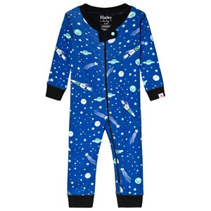 Hatley Blue Outer Space Organic One-Piece 12-18 months - Babyshop