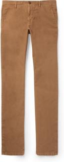 Slim-fit Stretch-cotton Twill Trousers - Tan