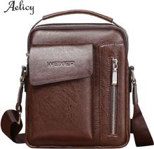 Aelicy Men Vintage Shoulder Bag Men Genuine Leather Briefcase Male Man Laptop Bag Natural Leather For Men Messenger Bags Men