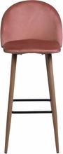 Nellie sammet barstol i Rosa sitshöjd 65 cm
