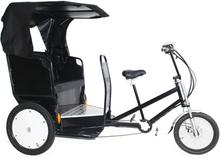 Rickshaw - Elektrisk Sykkel taxi med høyttalere - sort