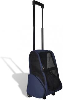 Sammenleggbar multifunksjonell kjæledyr vogn - blå