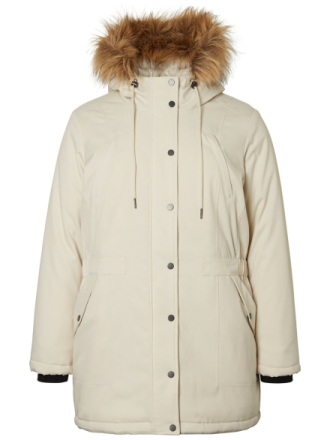 JUNAROSE Parka Jacket Women Beige