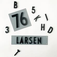 Design Letters - Platta Till Aluminium Bokstäver/Nummer 14x21cm