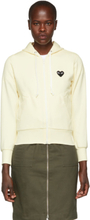 Comme des Garcons Play White Heart Patch Hoodie