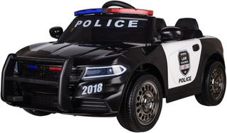 Azeno Elbil barn polisbil 12V med ljus och megafon