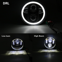 5.75 inch Moto LED Headlights Full Halo Lights Kit For Night Rod Iron 883 Dyna Sportster 1200 Indian Scout Triumph