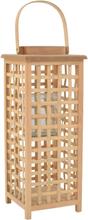 vidaXL Hängande ljuslykta bambu naturlig