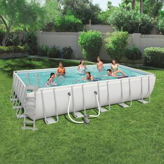 Bestway Power Steel pool rektangulær 671 x 366 x 132 cm 56470