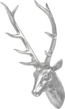 Seinäkoriste 67 cm hopeinen DEER HEAD