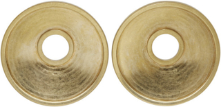 Marni Gold Round Clip-On Earrings