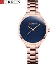 CURREN Top Brand Fashion Ladies Watches Stainless Steel Band Quartz Female Wrist Watch Ladies Gifts Clock Relogio Feminino