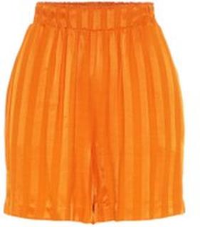Y.A.S Elastisk Talje Shorts Kvinder Orange