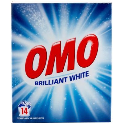 Omo Vollwaschmittel Pulver Brilliant Weiß 980 g