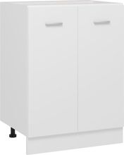 vidaXL Bunnskap hvit 60x46x81,5 cm sponplate