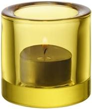 Kivi kynttilälyhty 60 mm Sitruunankeltainen