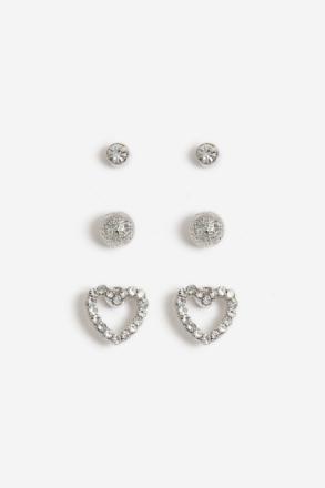 Silver look heart earring