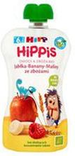 HiPP - Mus owocowy,100% owoców jabłko-banan-malina ze zbo...