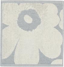 Marimekko Unikko Jacquard minipyyhe, luonnonvalkoinen-sininen