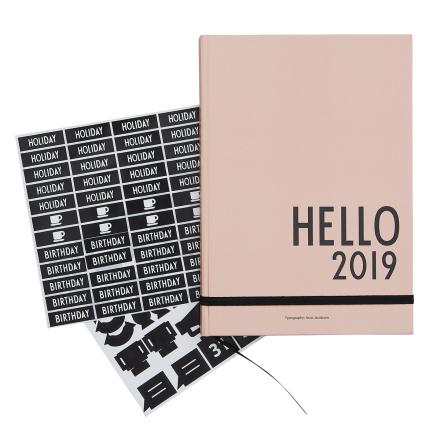 Design Letters Kalenteri A5 2019, nude