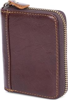 Brun RFID Korthållare med Dragkedja