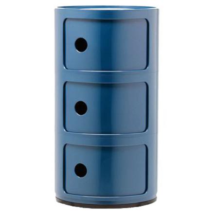 Kartell Componibili säilytyskaluste, 3-osainen, sininen