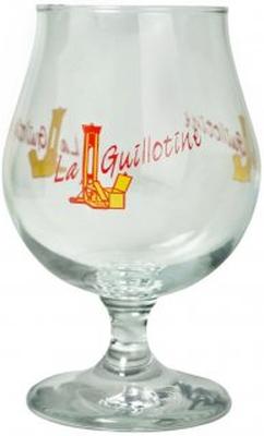 La Guillotine ölglas gul logo