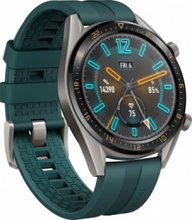 uawei Watch GT 46mm Titanium Grey Gummi Rem Dark Green