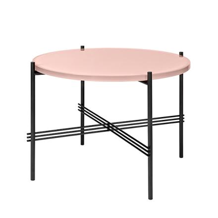 Gubi TS sohvapöytä, 55 cm, musta - pinkki lasi