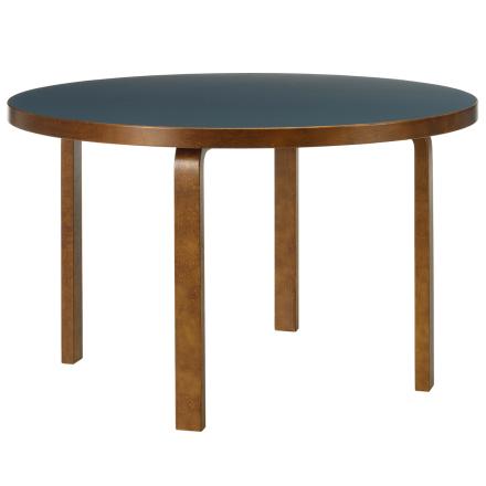 Artek Aalto pöytä 91, sininen linoleum - pähkinä