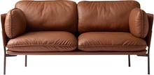 &Tradition Cloud LN2 sohva, 2-istuttava, ruskea nahka