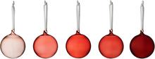 Iittala Lasipallosetti 5 kpl, punainen