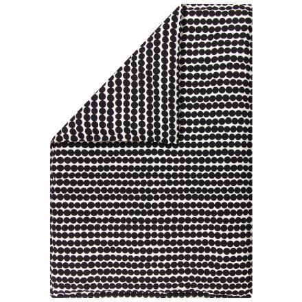 Marimekko Räsymatto pussilakana 150 x 210 cm, valkoinen - musta