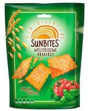 Sunbites - Krakersy wielozbożowe smak - pomidor i bazylia