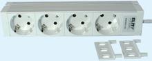 Uttagslister New Line (4 uttag strömbrytare, 308mm)
