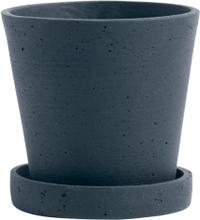 Hay Flowerpot ruukku ja lautanen, S, tummansininen