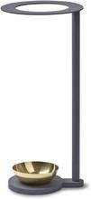 Monokel sateenvarjoteline harmaa - messinki