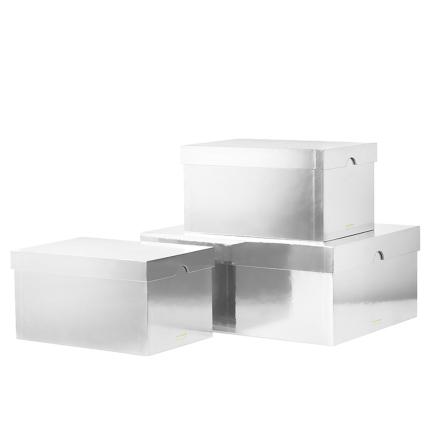 Normann Copenhagen Metallic laatikot 3 kpl, hopea